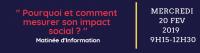 """Matinée d'information """" Pourquoi et comment mesurer son impact social ? """""""