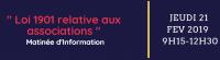 """Matinée d'information """" Loi 1901 relative aux associations """""""